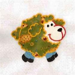 Chubby Farm Sheep embroidery design
