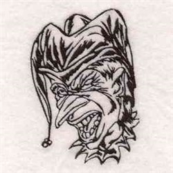 Evil Clown embroidery design