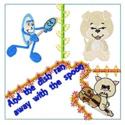 Hey Diddle Block embroidery design