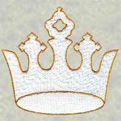 Chrismon Crown embroidery design