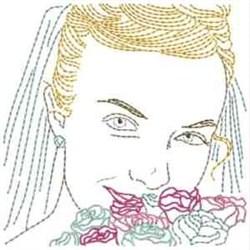 Bride Face embroidery design