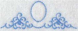 Oval Linen Border embroidery design