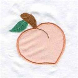 Peach Applique embroidery design