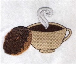 Coffee & Donut embroidery design