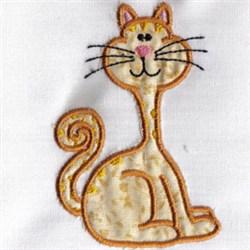 Applique Cat embroidery design