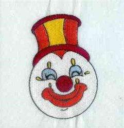 Happy Clown embroidery design