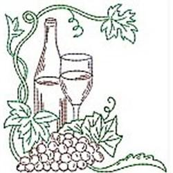 Wine Grapes embroidery design