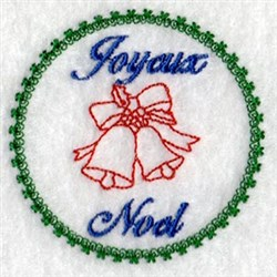 Joyous Noel embroidery design