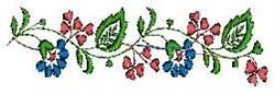 Floral Vine embroidery design