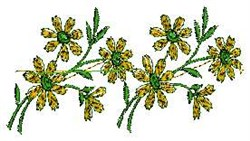 Linen Flowers embroidery design