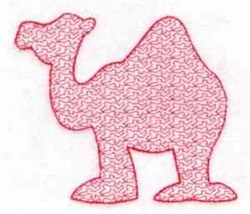 Camel Stipple embroidery design