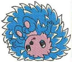 Blue Hedgehog embroidery design