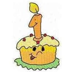 1st Birthday Cake embroidery design