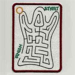Ghost Maze embroidery design