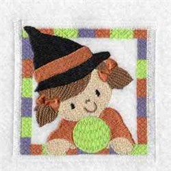 Witch Block embroidery design