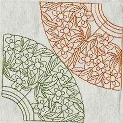 Quilt Floral Corners embroidery design