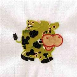 Chubby Farm Cow embroidery design