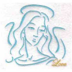 Love Angel embroidery design