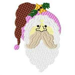 Santa Claus Head embroidery design