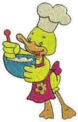 Chef Duck embroidery design