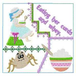 Miss Muffet Block embroidery design