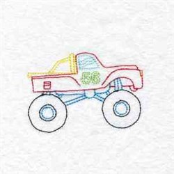 RW Monster Truck embroidery design