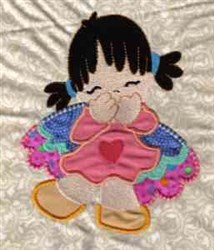 Angel Girl embroidery design
