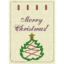 Merry Christmas Bag embroidery design