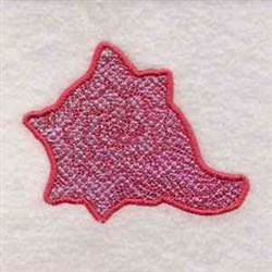 Mylar Conch embroidery design