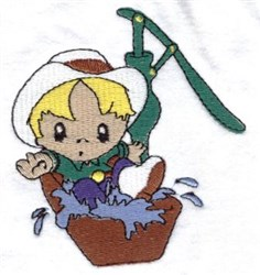 Water Trough Cowboy embroidery design