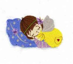 Sleeping Fairy embroidery design