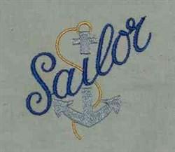 Sailor Anchor embroidery design