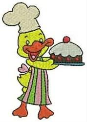 Duck Baker embroidery design
