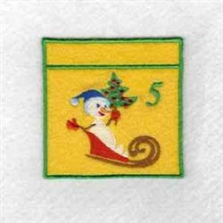 Advent Calendar 5 embroidery design