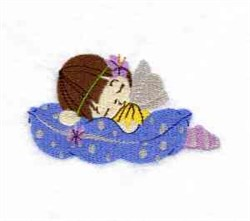 Fairy On Pillow embroidery design