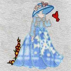 Snowflake Lady embroidery design