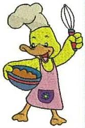 Duck Chef embroidery design