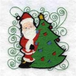 Santa & Tree embroidery design