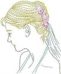 Bride Head embroidery design