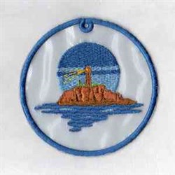 Lighthouse Ladscape embroidery design