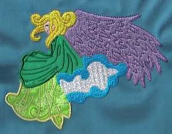 Fantasy Angel embroidery design