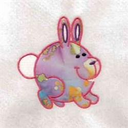Chubby Farm Bunny embroidery design