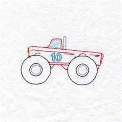 Truck Number 10 embroidery design