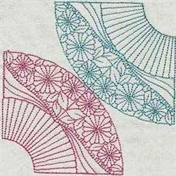 Floral Corners embroidery design