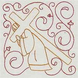 Jesus With Cross embroidery design