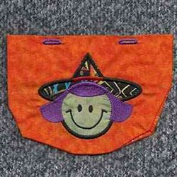 Witch Head Bag embroidery design
