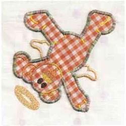 Applique Angel Teddy embroidery design