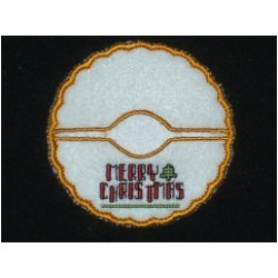 Merry Christms Coaster embroidery design