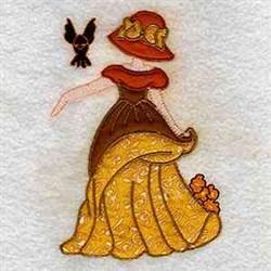 Lady & Bird embroidery design