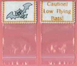 Low Flying Bats embroidery design